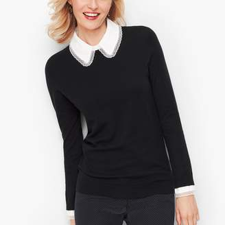 Talbots Lace Collar Sweater