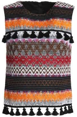 Nicholas Tassel-Trimmed Embroidered Felt Top