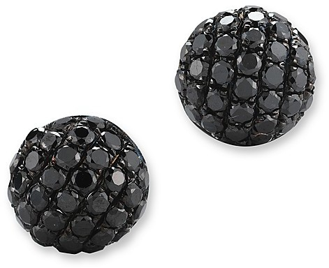 Bloomingdale's Black Diamond Small Stud Earrings in 14K White Gold, .40 ct. t.w.