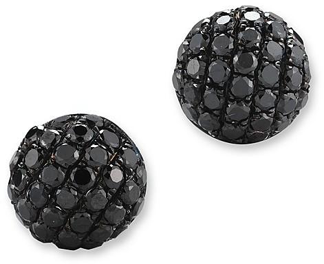 Bloomingdale'sBlack Diamond Small Stud Earrings in 14K White Gold, .40 ct. t.w.
