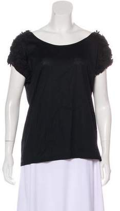 Aquilano Rimondi Aquilano.Rimondi Embroidered Short Sleeve Top