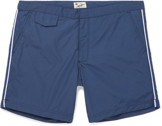 Hartford Socoa Mid-Length Striped Swim Shorts $180 thestylecure.com