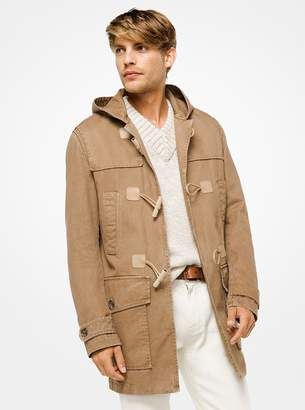 Michael Kors Cotton-Twill Duffle Coat
