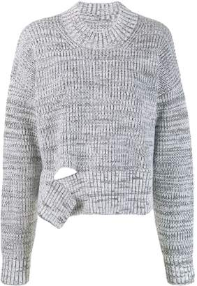 Maison Margiela deconstructed chunky knit sweater