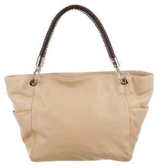 f399a8c17c645 Braided Leather Handle Bag - ShopStyle