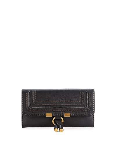 Chloé Chloe Marcie Calfskin Zip-Around Wallet, Black