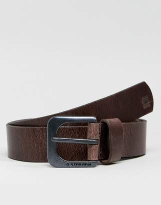 G Star G-Star Zed Leather Belt In Brown