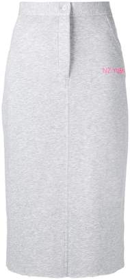 Natasha Zinko button jersey skirt
