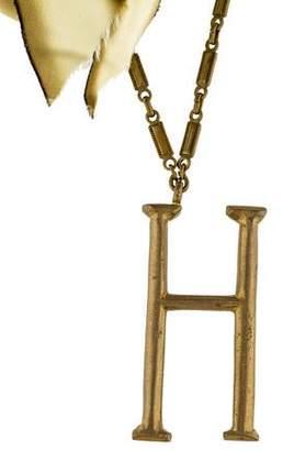 Lulu Frost Letter H & Ribbon Pendant Necklace