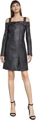 BCBGMAXAZRIA Atla Faux-Leather Moto Dress