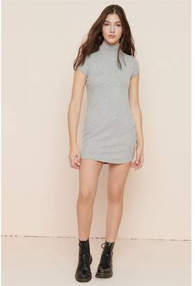 Garage Ribbed Mock Neck T-Shirt Dress - FINAL SALE