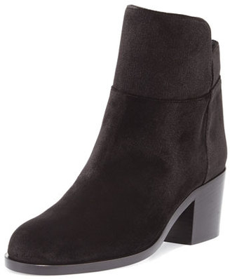 Laurence Dacade Velvet Low Equestrian Boot, Black $300 thestylecure.com