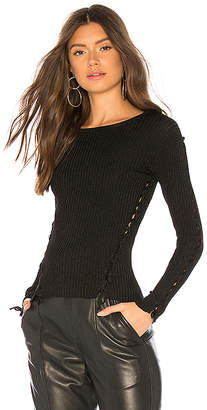 Generation Love Kristen Lace Up Sweater