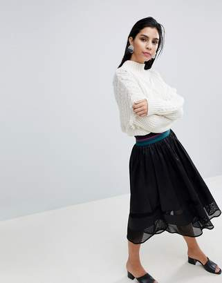 Sisley Elasticated Waist Midi Skirt