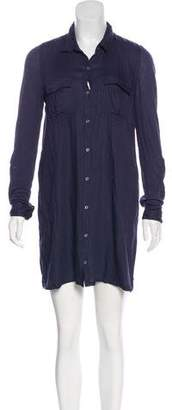 Soft Joie Collared Mini Shirtdress