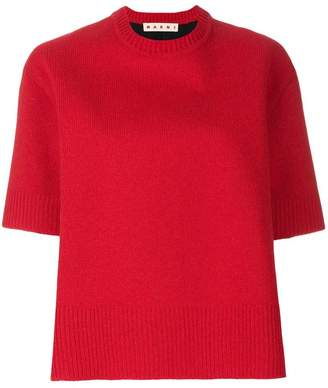 Marni short sleeve knitted top