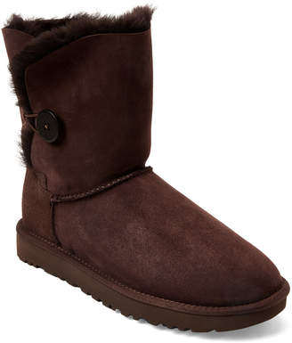 UGG Chocolate Bailey Button II Real Fur Boots