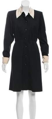 Saint Laurent Vintage Wool Knee-Length Dress