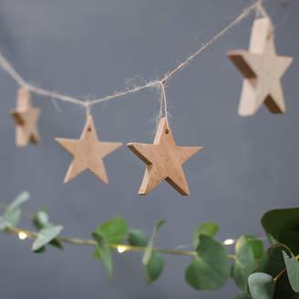 Nkuku Mango Wood Star Garland - Natural
