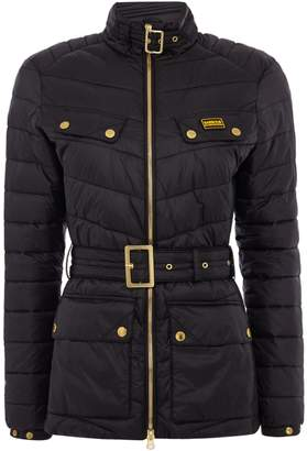 Barbour Gleann Quilted Belted Jacket With Stand Collar
