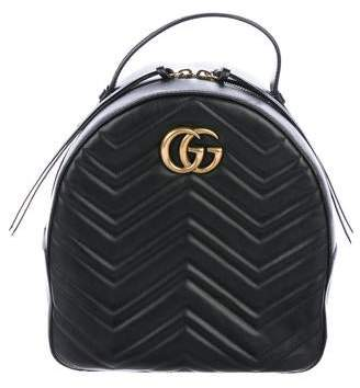 5823bb1ed5c173 Gucci GG Marmont Quilted Leather Backpack