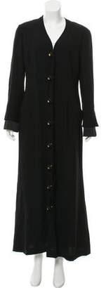 Gianfranco Ferre Button-Up Long Coat