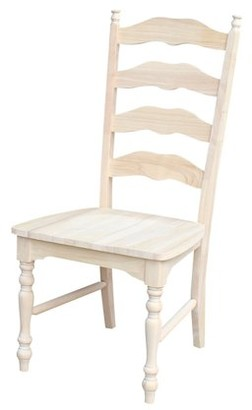 INC International Concepts International Concepts C-2170P Maine Ladderback Chair, Ready To Finish
