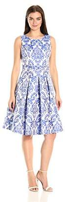 Eliza J Women's Printed Fit and Flare Dress