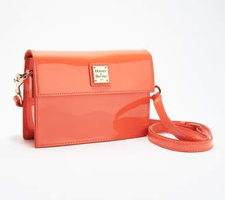 Dooney & Bourke Patent Leather Small East/West Flap Crossbody