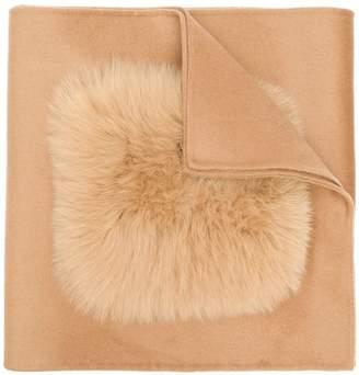 Yves Salomon fur appliqué scarf
