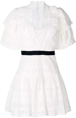 Self-Portrait broderie anglaise stripe dress