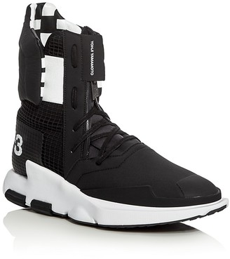 Y-3 Noci High Top Sneakers $420 thestylecure.com
