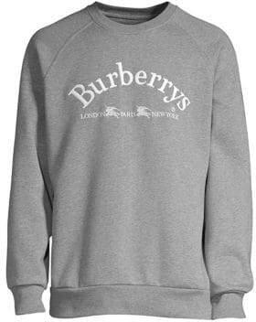 Burberry Men's Pari Burberrys Sweatshirt - Grey - Size Medium