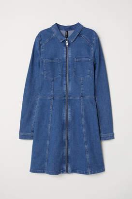 H&M Fitted Shirt Dress - Blue