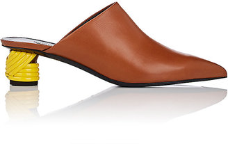 Balenciaga Women's Bistrot Leather Mules $795 thestylecure.com