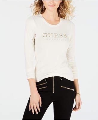 GUESS Signature Long-Sleeve T-Shirt