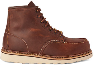 Red Wing Shoes 1907 Classic Moc Leather Boots $280 thestylecure.com
