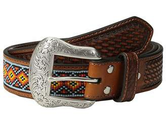 M&F Western Embossed Tab Diamond Beaded Inlay Belt