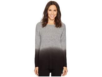 Tribal Long Sleeve Dip-Dye Crew Neck Sweater Women's Sweater