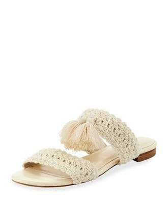 Joie Faina Crochet Flat City Slide Sandal, White $258 thestylecure.com