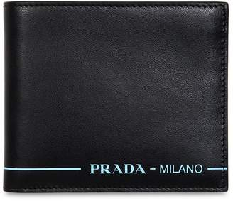 Prada Leather Wallet W/ Contrast Logo