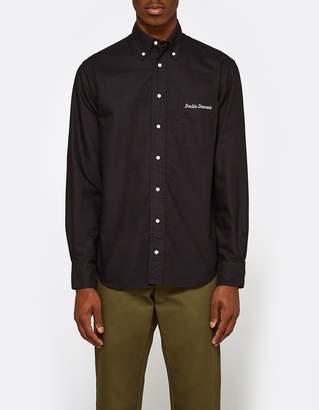Gitman Brothers Overdye Oxford Shirt in Black