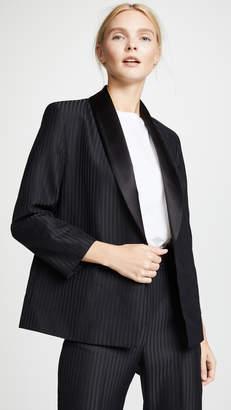 Victoria Beckham Victoria Cropped Sleeve Tux Blazer