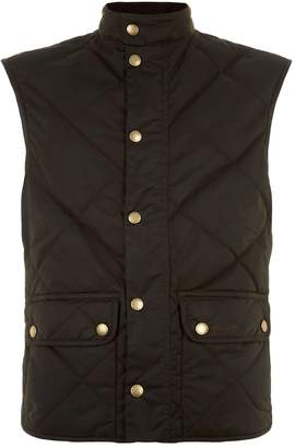 Barbour Lowerdale Waxed Cotton Quilted Gilet