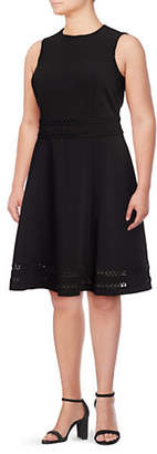 Calvin Klein Sleeveless Fit-and-Flare Dress