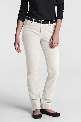 Lands' End Women's Regular Pre-hemmed Modern 14-wale Corduroy Slim Leg Jeans