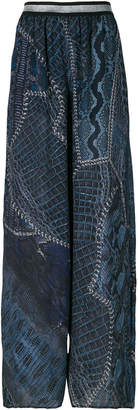 Just Cavalli flared printed trousers