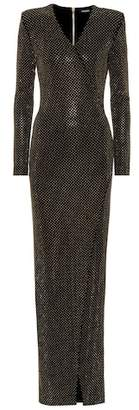 Balmain Crystal-embellished jersey gown