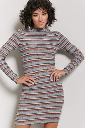 Forever 21 Marled Ribbed Knit Striped Dress