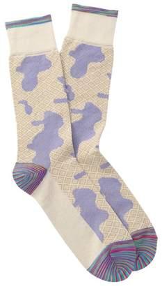Robert Graham Philo Diamond Camo Crew Socks